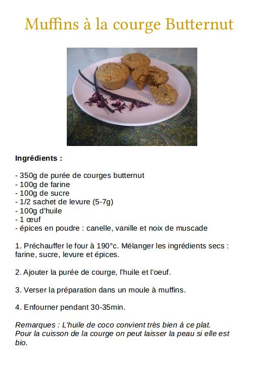 Muffins Butternut